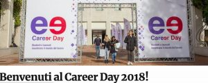 Career Day: l'evento annuale del Placement