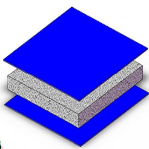 Anima e pannello termo-egolatore per la realizzazione e/o la schermatura di elementi strutturali, in particolare di macchine di lavorazione , controllo o misura