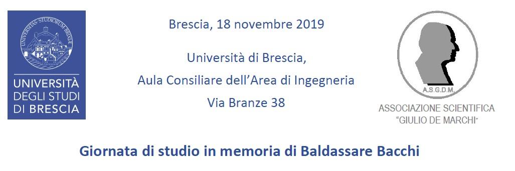 Giornata di studio in memoria di Baldassare Bacchi