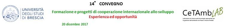 14.a Convegno - Formazione e progetti di cooperazione internazionale allo sviluppo: Esperienze ed opportunita'