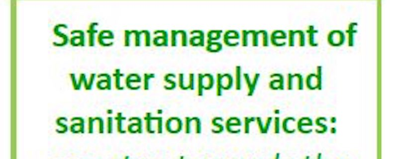 8th International Summer School - Safe management of water supply and sanitation services: one step towards the Sustainable Development Goals
