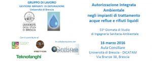 53.a Giornata di Studio di Ingegneria Sanitaria-Ambientale - Autorizzazione Integrata Ambientale negli impianti di trattamento acque reflue e rifiuti liquidi