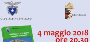Pubblicazione del volume: Passeggiate geologiche nelle valli bresciane