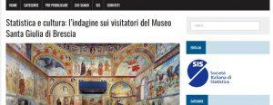 Statistica e cultura: una valutazione dell'esperienza dei visitatori dei musei cittadini